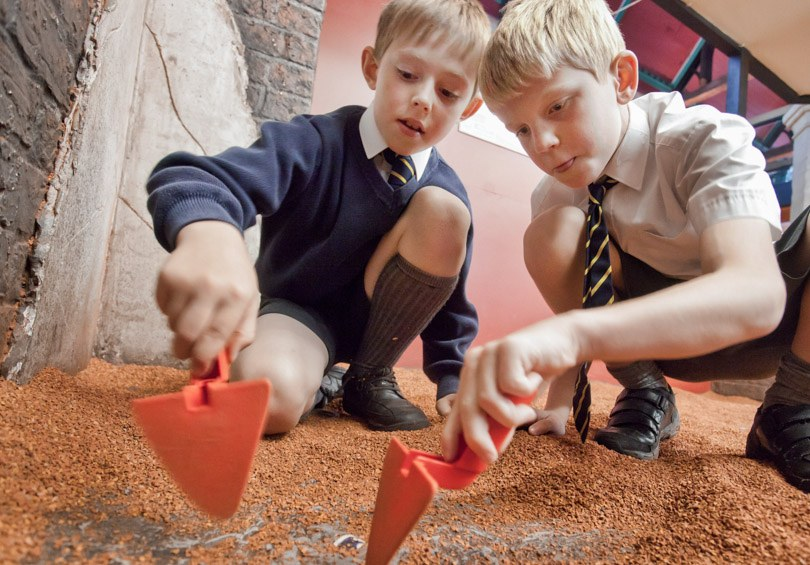 Children enjoying interactive experience at DIG