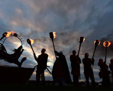 Fiery Wolf Beacon Welcomes the Return of the Vikings