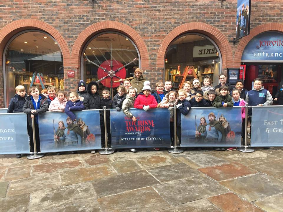 School visit to JORVIK Viking Festival