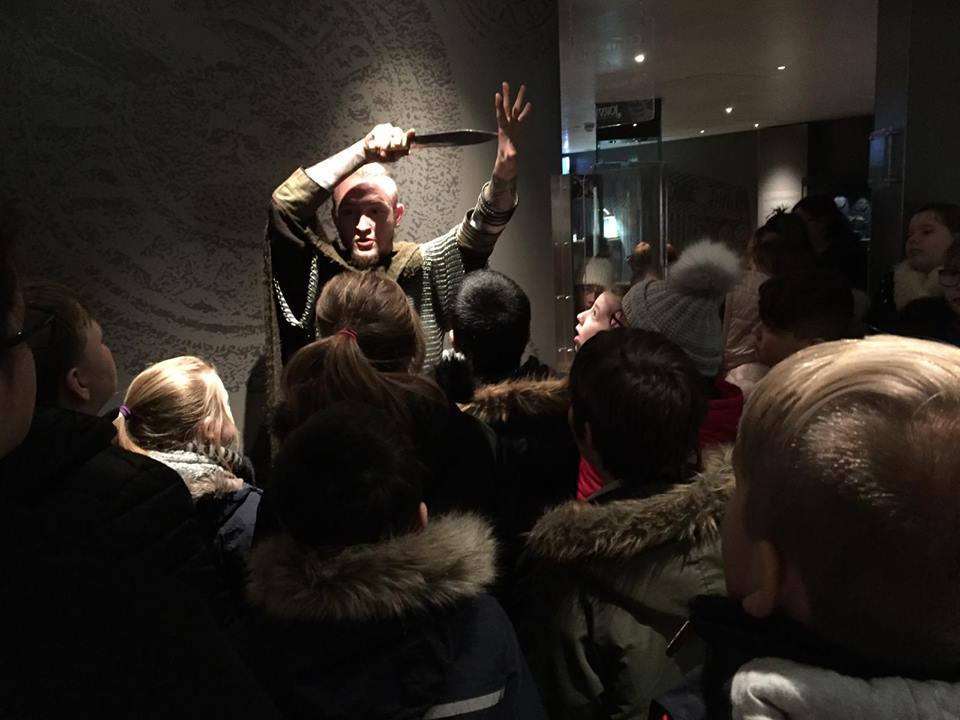 School talk at JORVIK