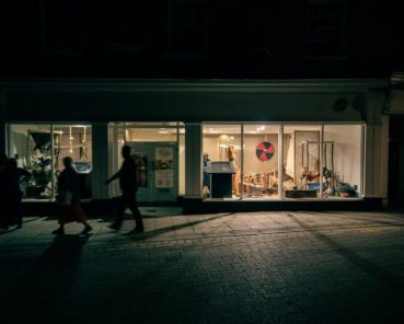 Empty shop window turns into open-all-hours museum in York's Feasegate